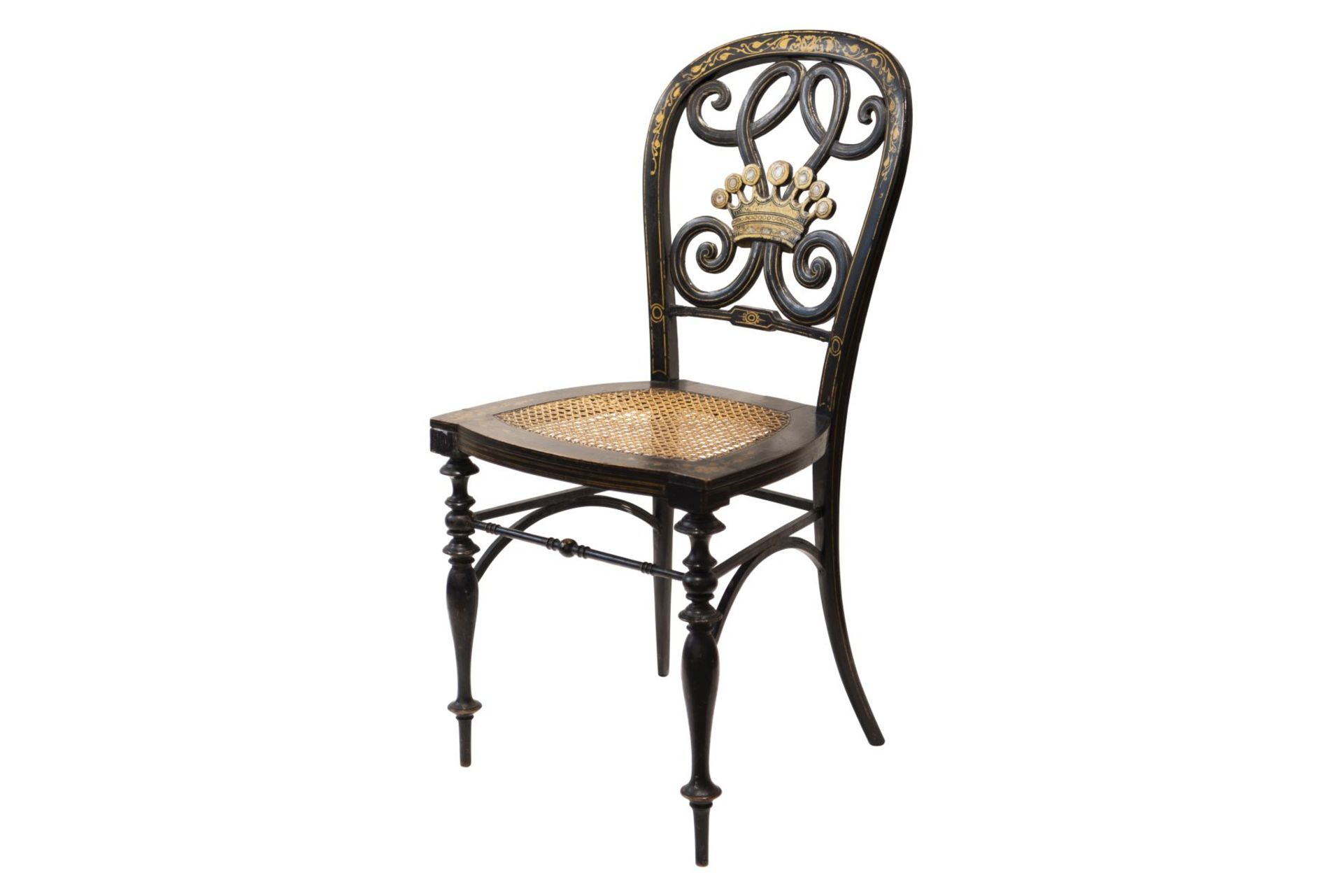Decorative chair, French Chinoiserie - Image 3 of 7