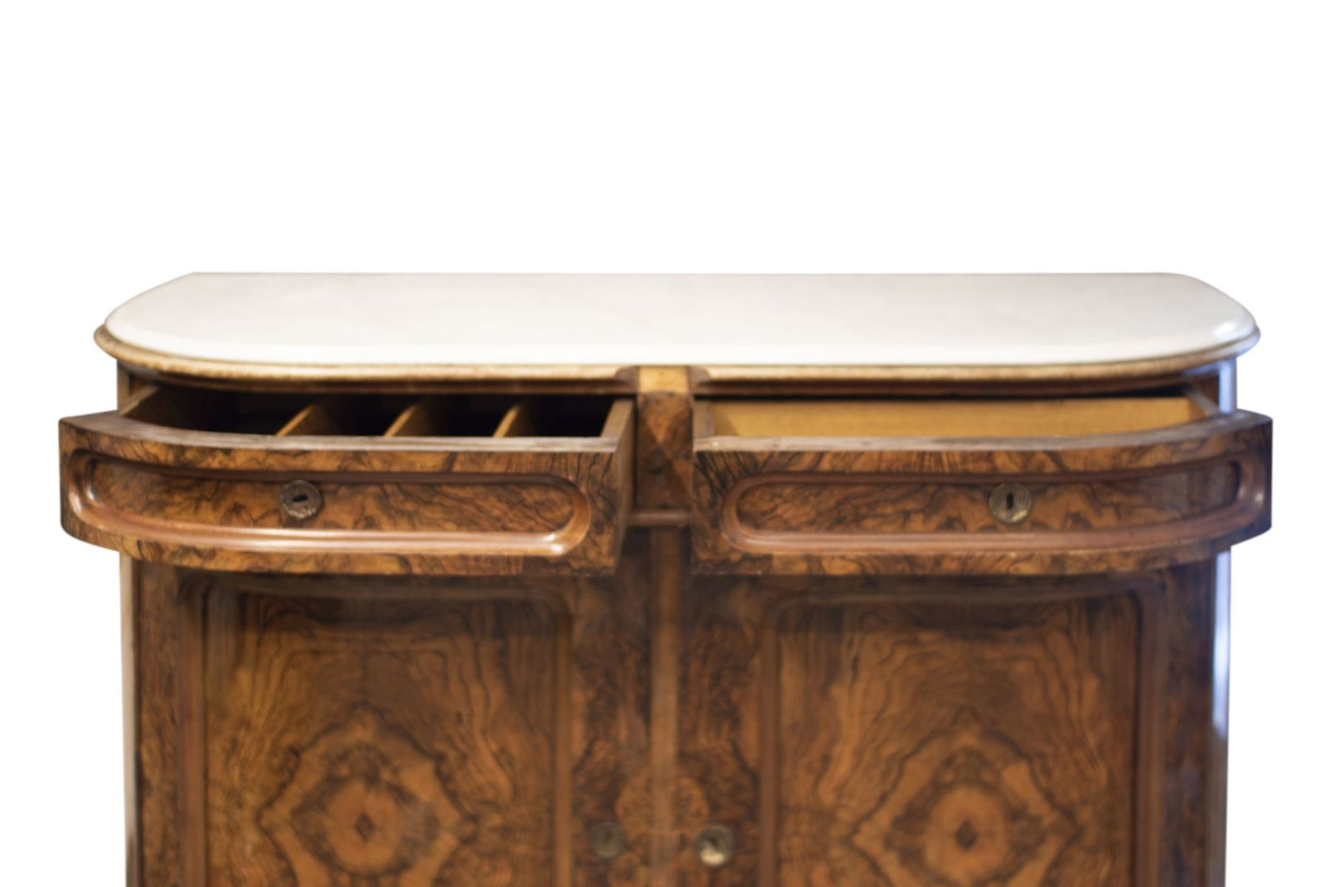 Salon chest of drawers with profiled marble top - Image 5 of 6