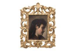 "Portrait Painter of the 19th Century ""Portrait of a Girl"""