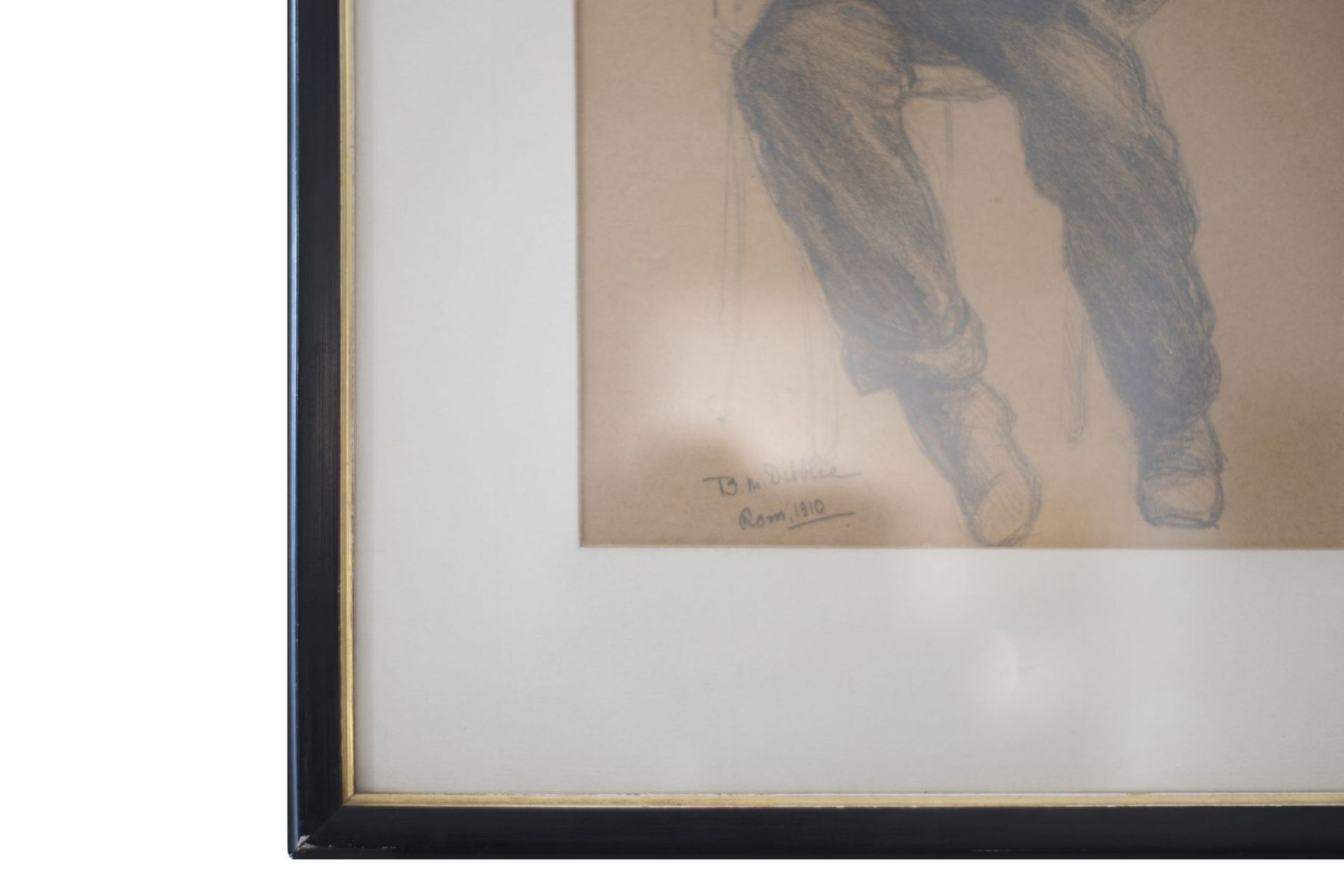"B.M. Dibbleo Rome 1910 ""Harmonica player"" - Image 3 of 4"