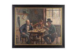 """E. Denk (pseudonym), around 1900 """"Alt Wiener Kaffeehausrunde"""" (Old Viennese Coffee House Round)"""