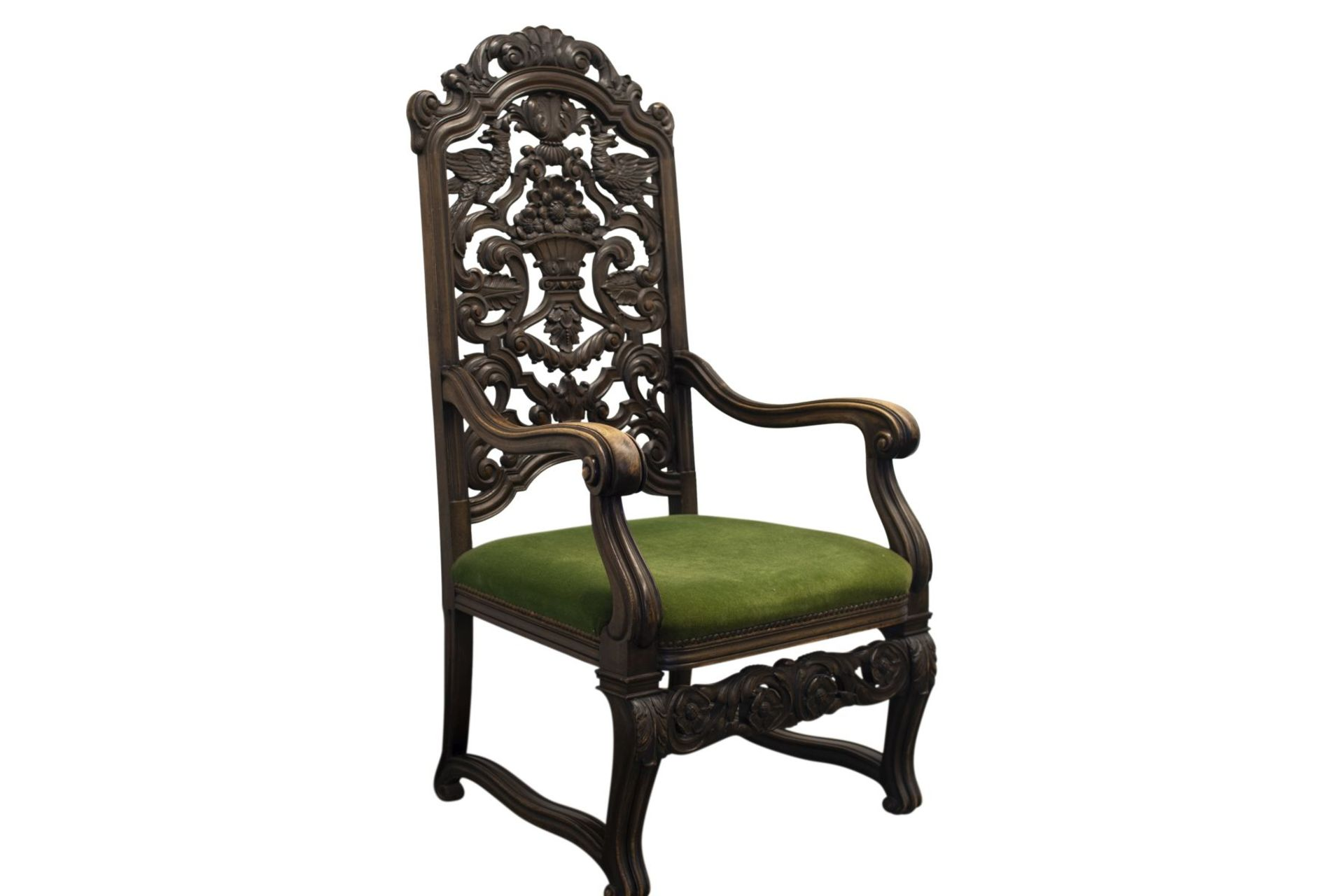 Armchair with carved backrest - Image 2 of 5