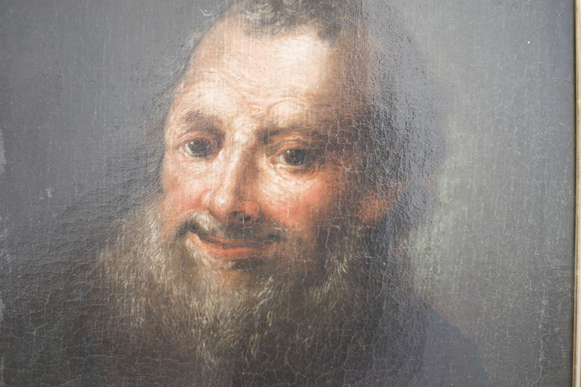 """Historism painter around 1850 """"Old man with beard"""" - Image 2 of 4"""