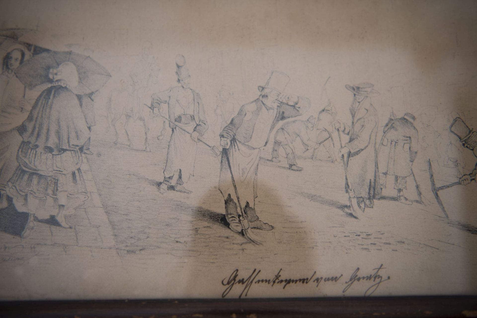"Artist around 1830 ""Street scene from the Biedermeier period"" - Image 2 of 4"
