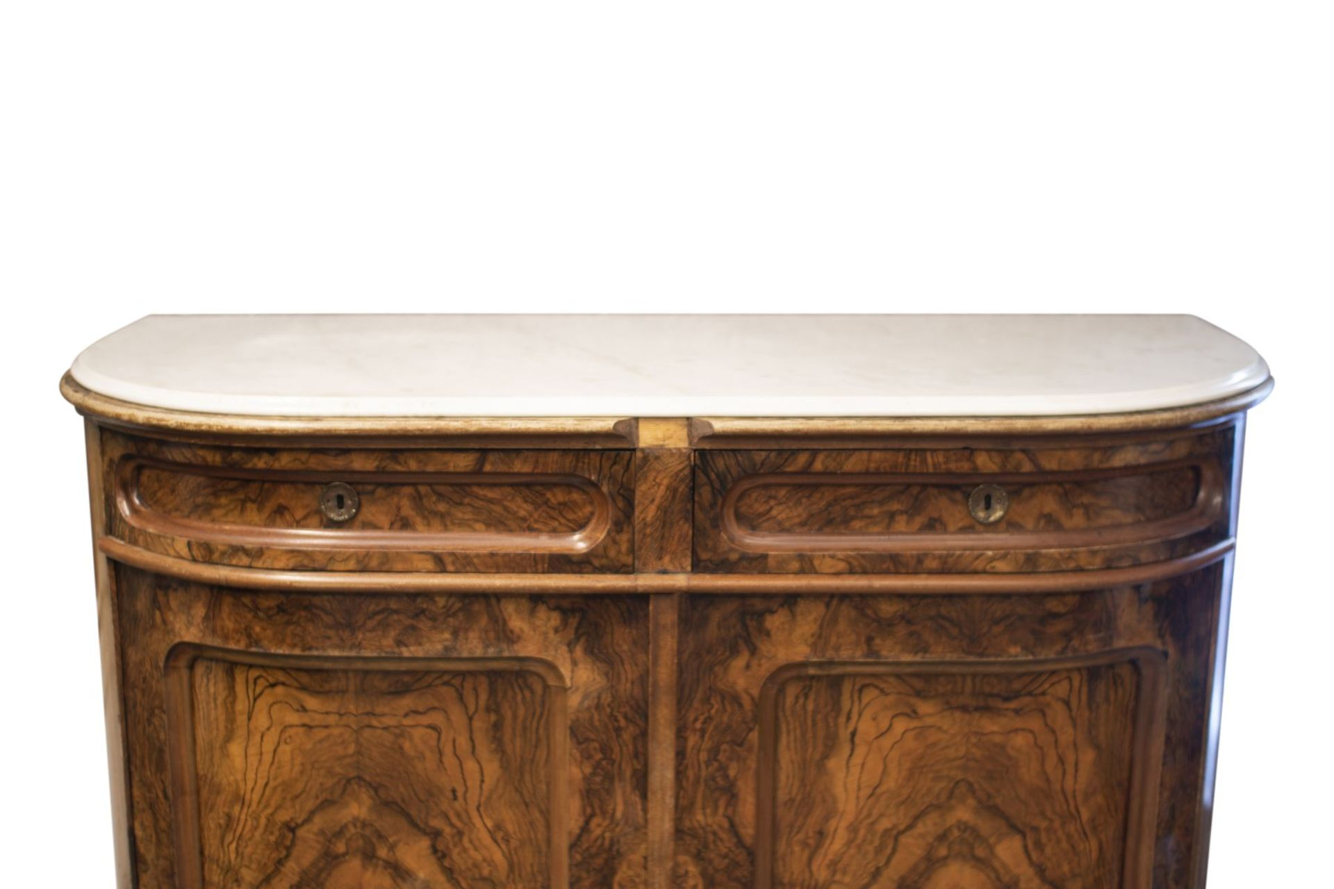 Salon chest of drawers with profiled marble top - Image 3 of 6
