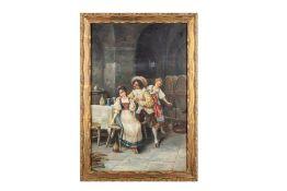 """German Artist around 1880 """"The Gallant Guest"""""""