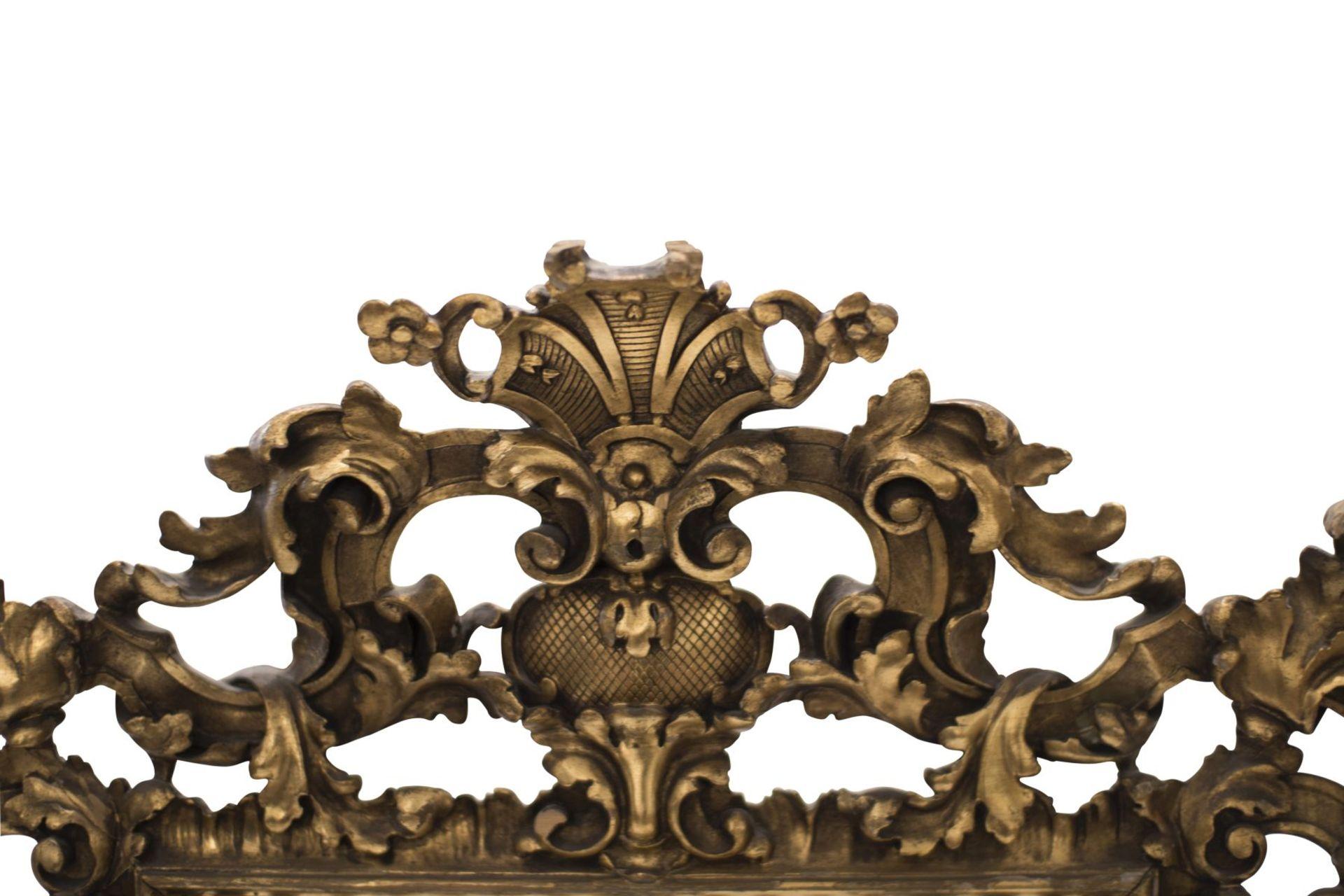 Baroque style salon mirror, 19th century - Image 3 of 6