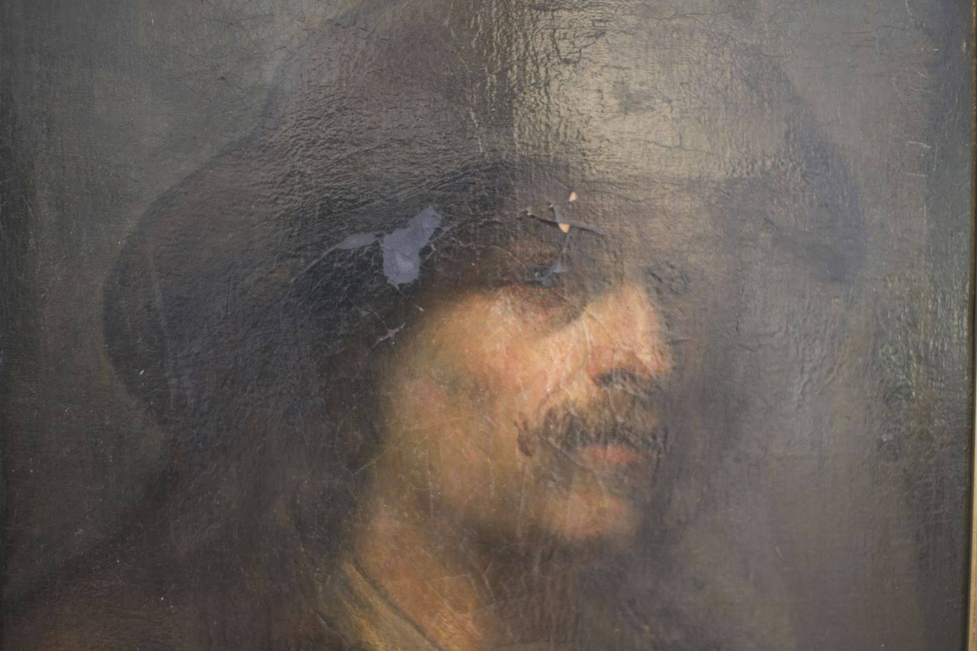 """Attributed to Mihály von Munkácsy (1844-1900) """"Bearded man with floppy hat"""" - Image 2 of 4"""