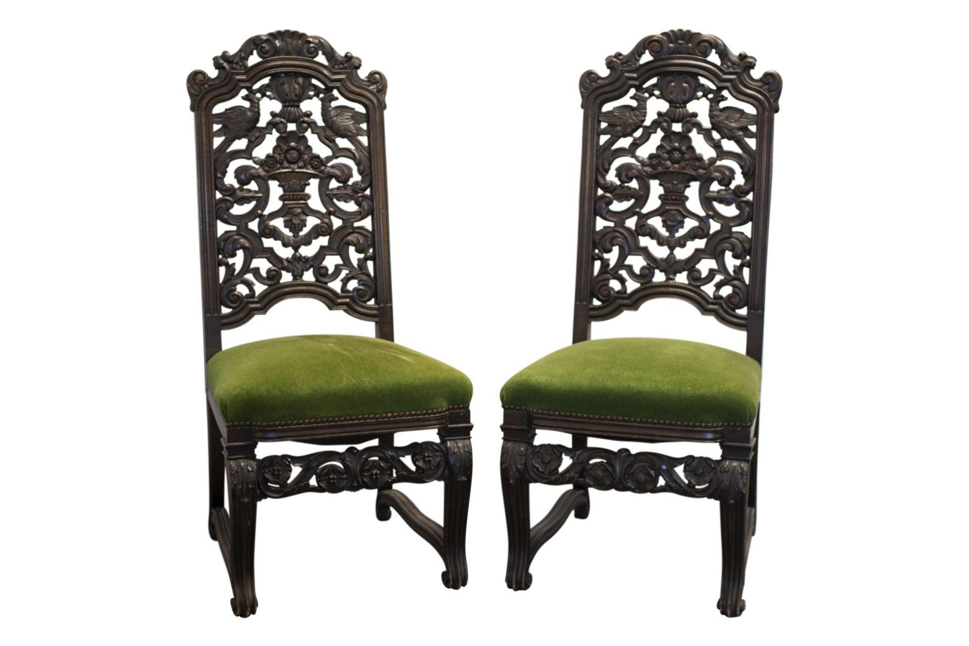 Pair of salon chairs, Belle Epoch style - Image 2 of 7