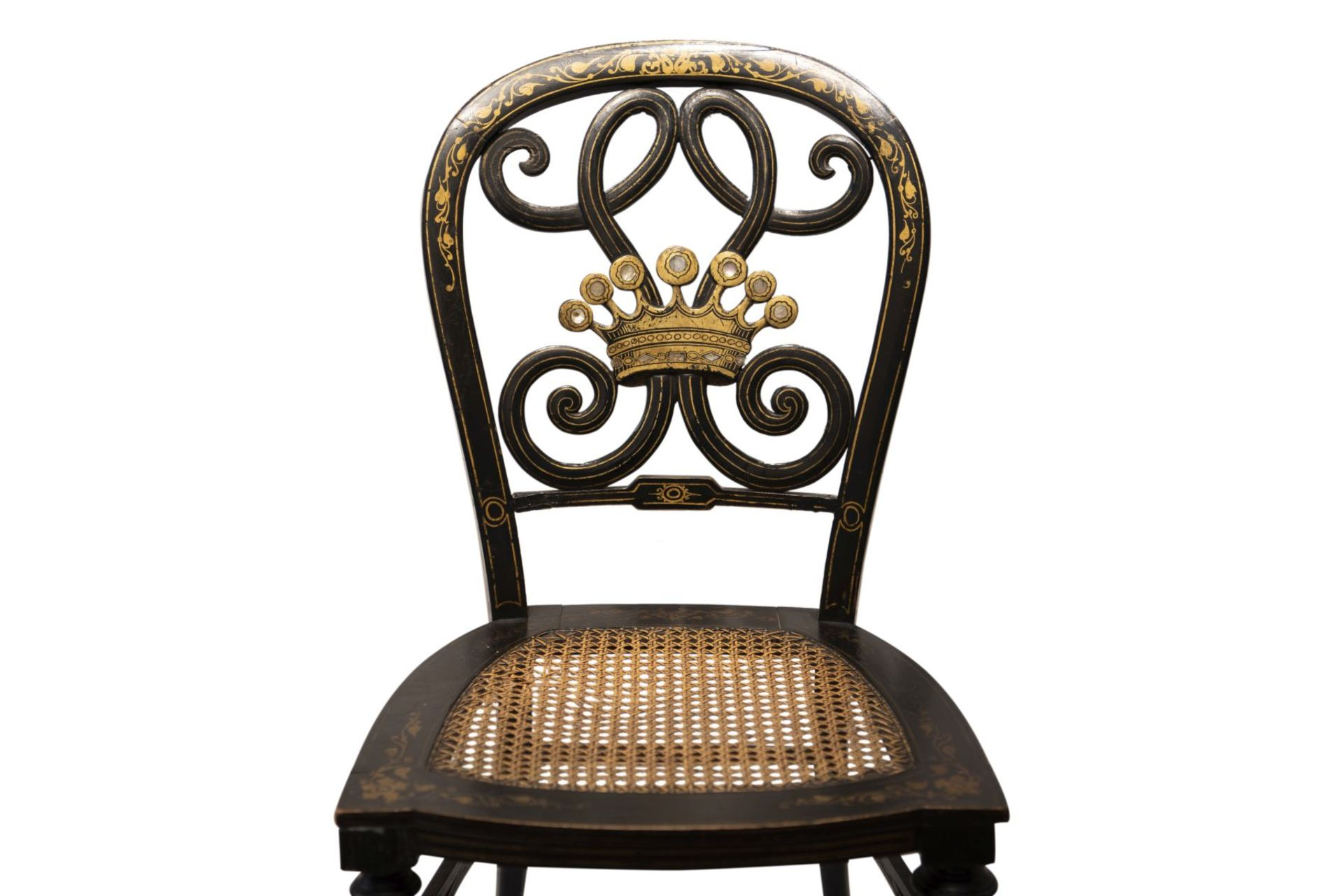 Decorative chair, French Chinoiserie - Image 4 of 7