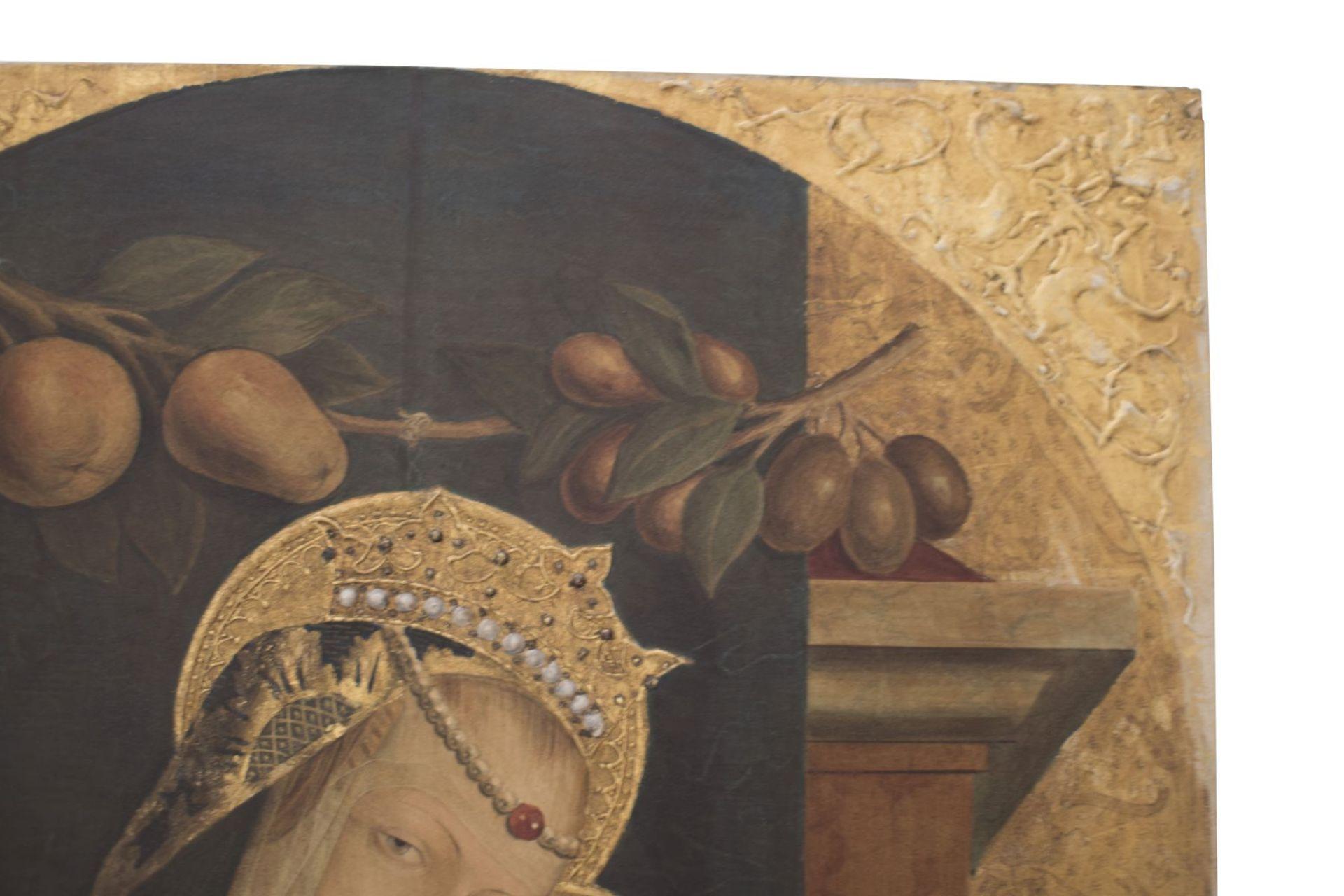 "After an original Opvus Caroli Crivelli Venet 1487 ""Madonna with Child"" - Image 4 of 8"