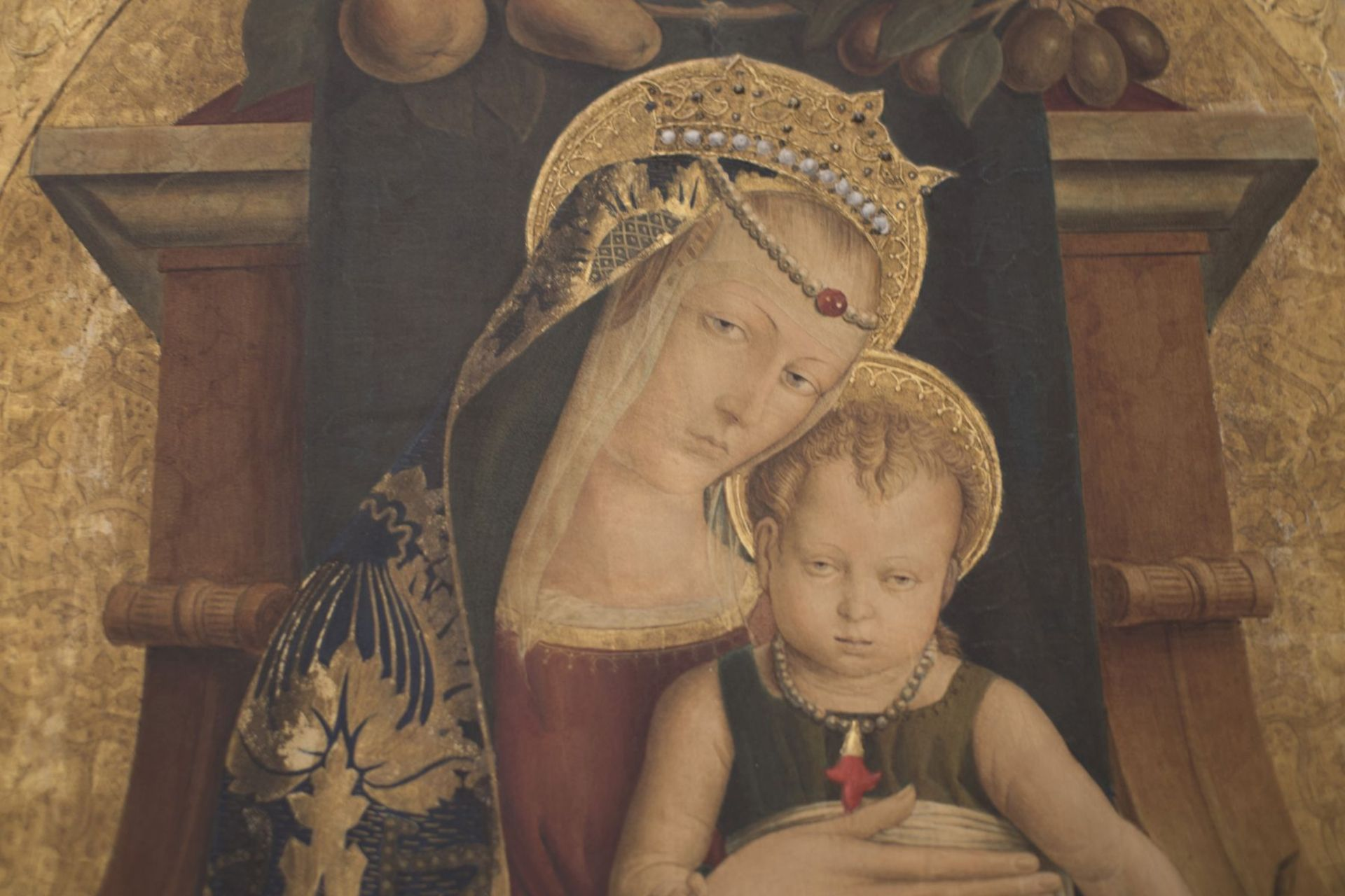 "After an original Opvus Caroli Crivelli Venet 1487 ""Madonna with Child"" - Image 5 of 8"