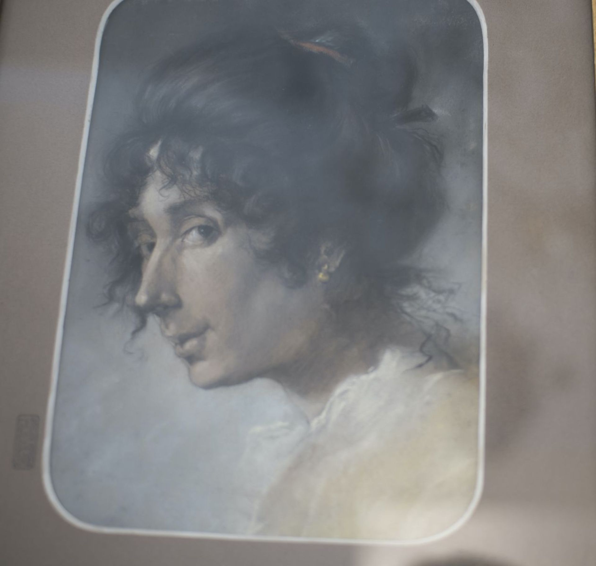 """Artist around 1820 """"Portrait of a lady"""" - Image 3 of 4"""