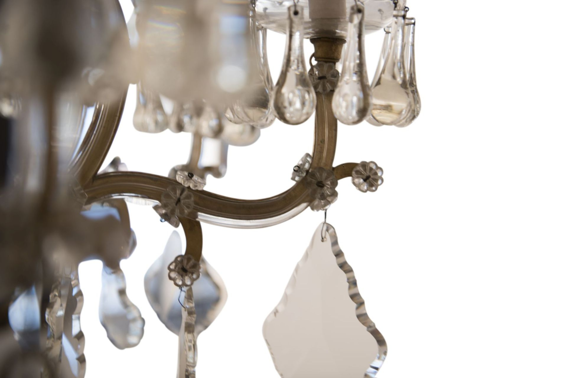 "Decorative Salon Chandelier ""Maria Theresa Style"" - Image 6 of 8"