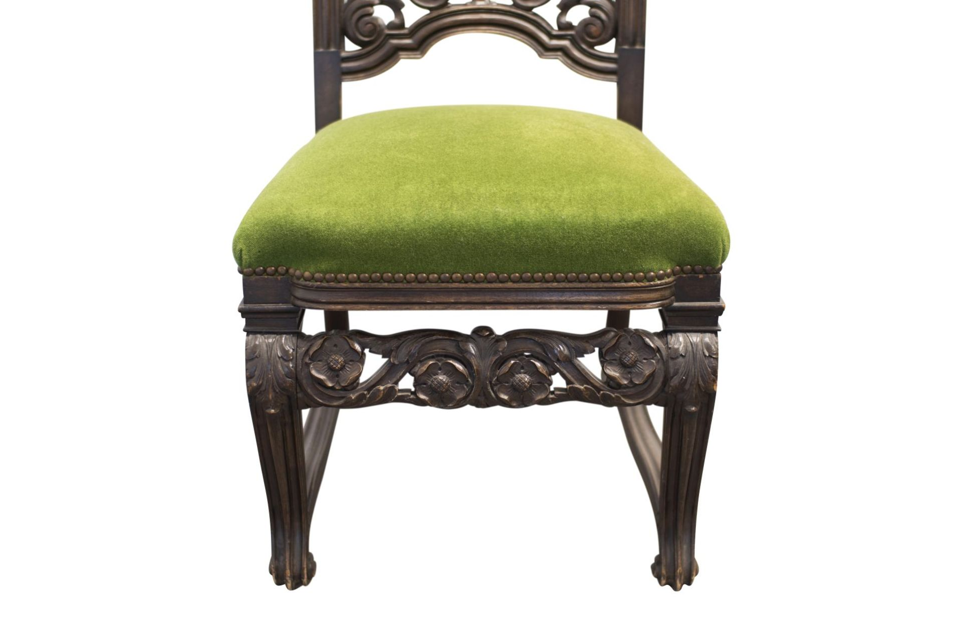 Pair of salon chairs, Belle Epoch style - Image 5 of 7