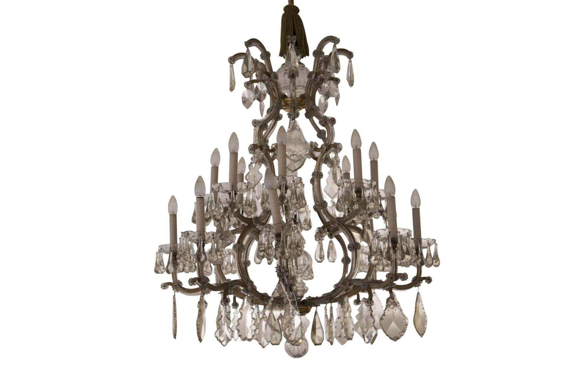 "Decorative Salon Chandelier ""Maria Theresa Style"" - Image 2 of 8"