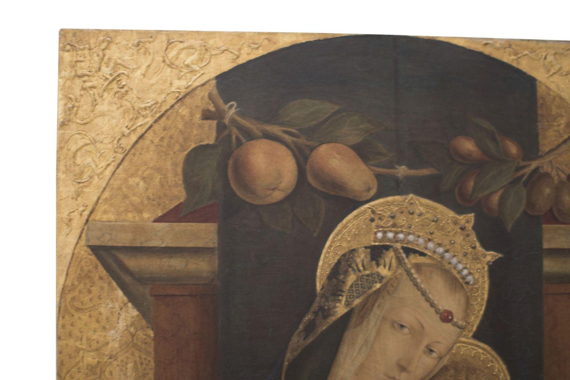 "After an original Opvus Caroli Crivelli Venet 1487 ""Madonna with Child"" - Image 3 of 8"
