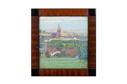 """Vienna around 1900 """"View of the Döblingen Church"""""""