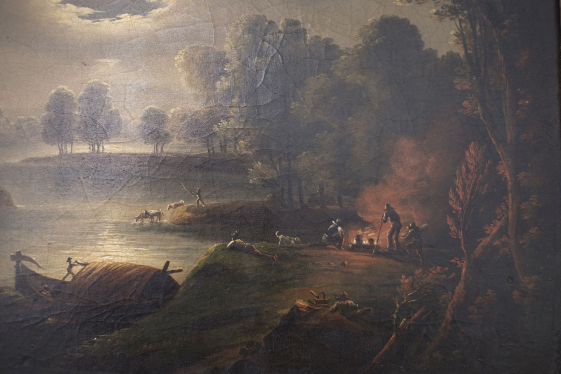 """Thèodore Rousseau (1812-1867) Circle, Barbizon """"French Landscape in the Full Moon"""" - Image 3 of 6"""