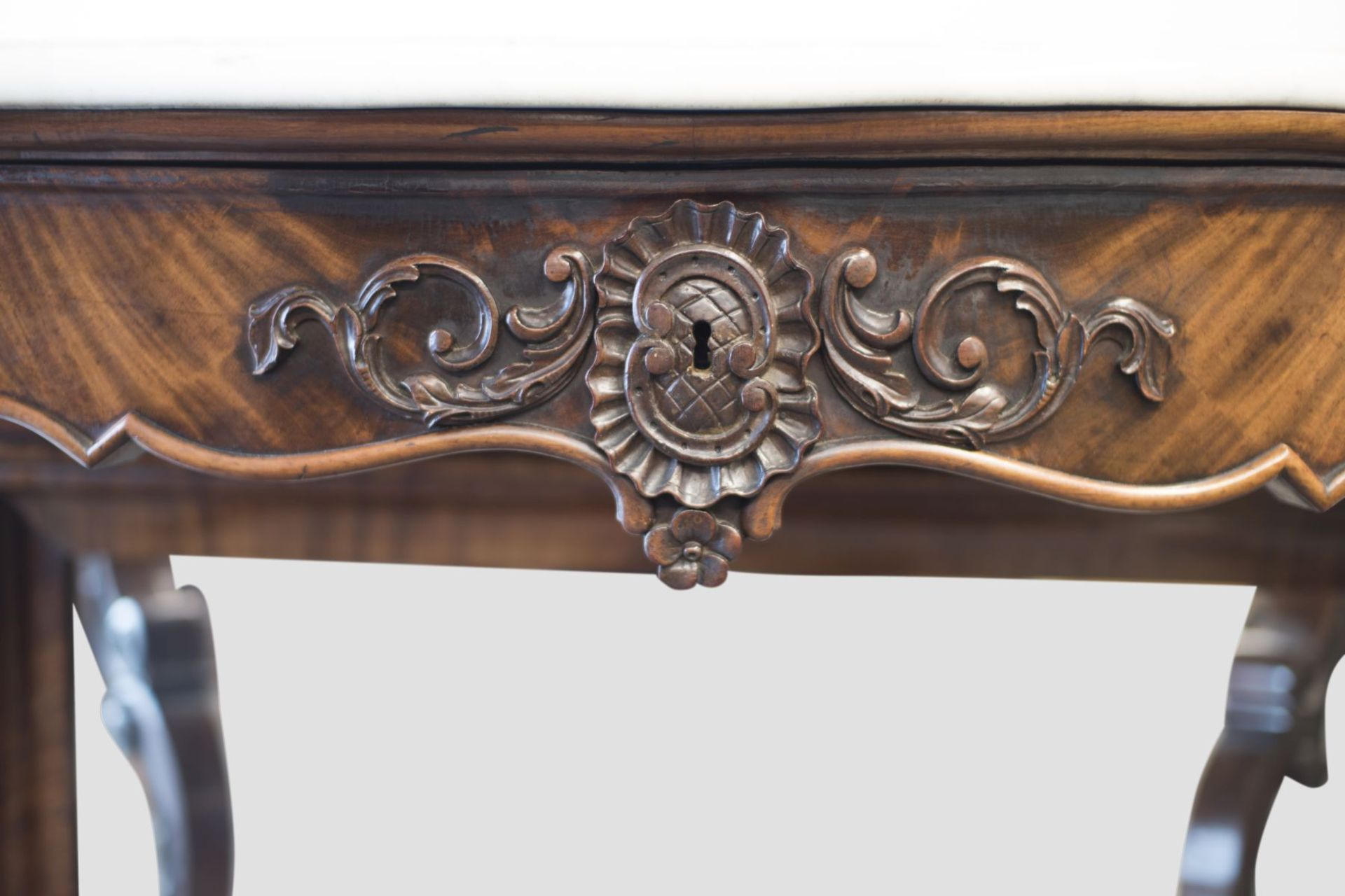 Baroque Buffet with Mirror and Marble Top - Bild 4 aus 6