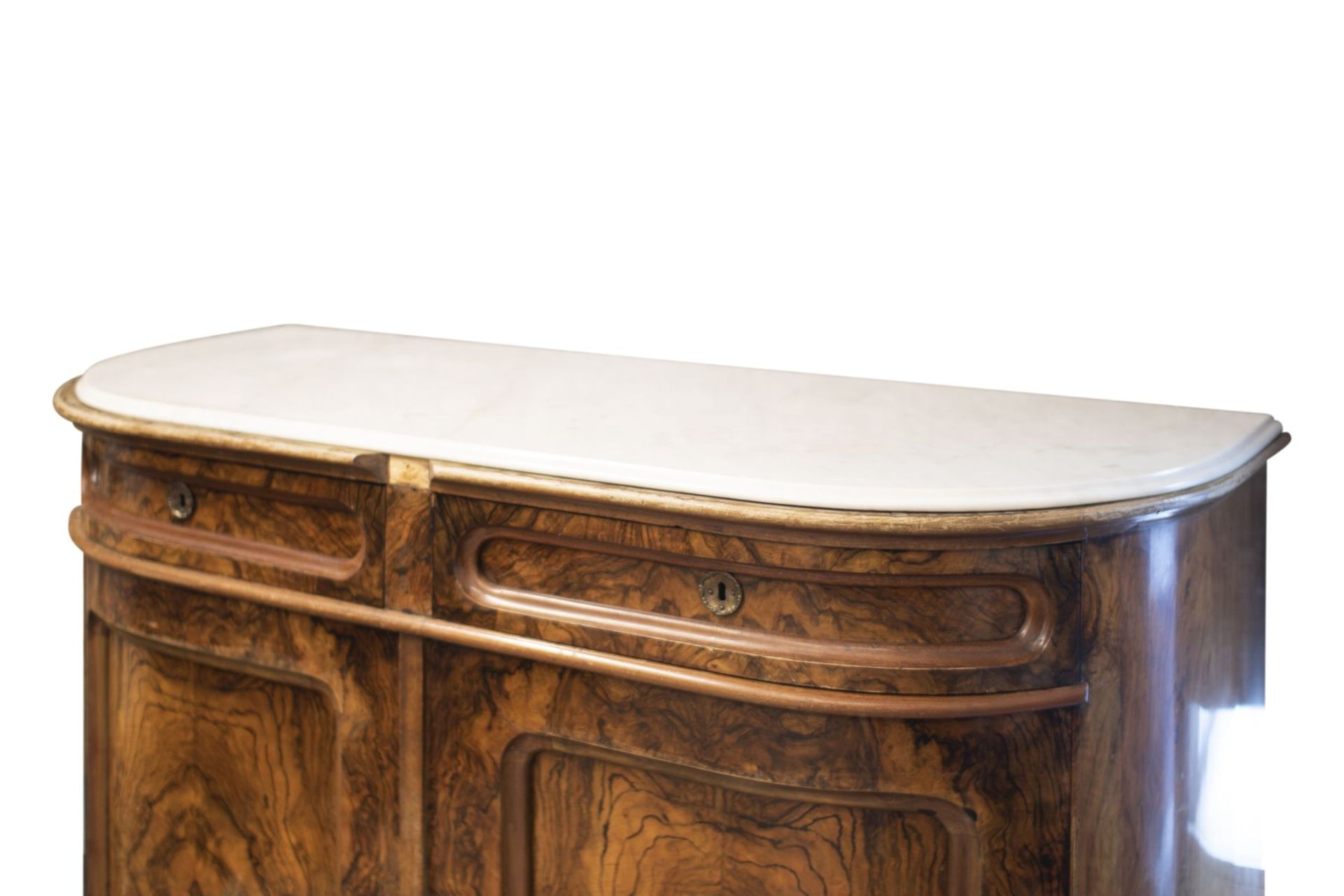 Salon chest of drawers with profiled marble top - Image 4 of 6