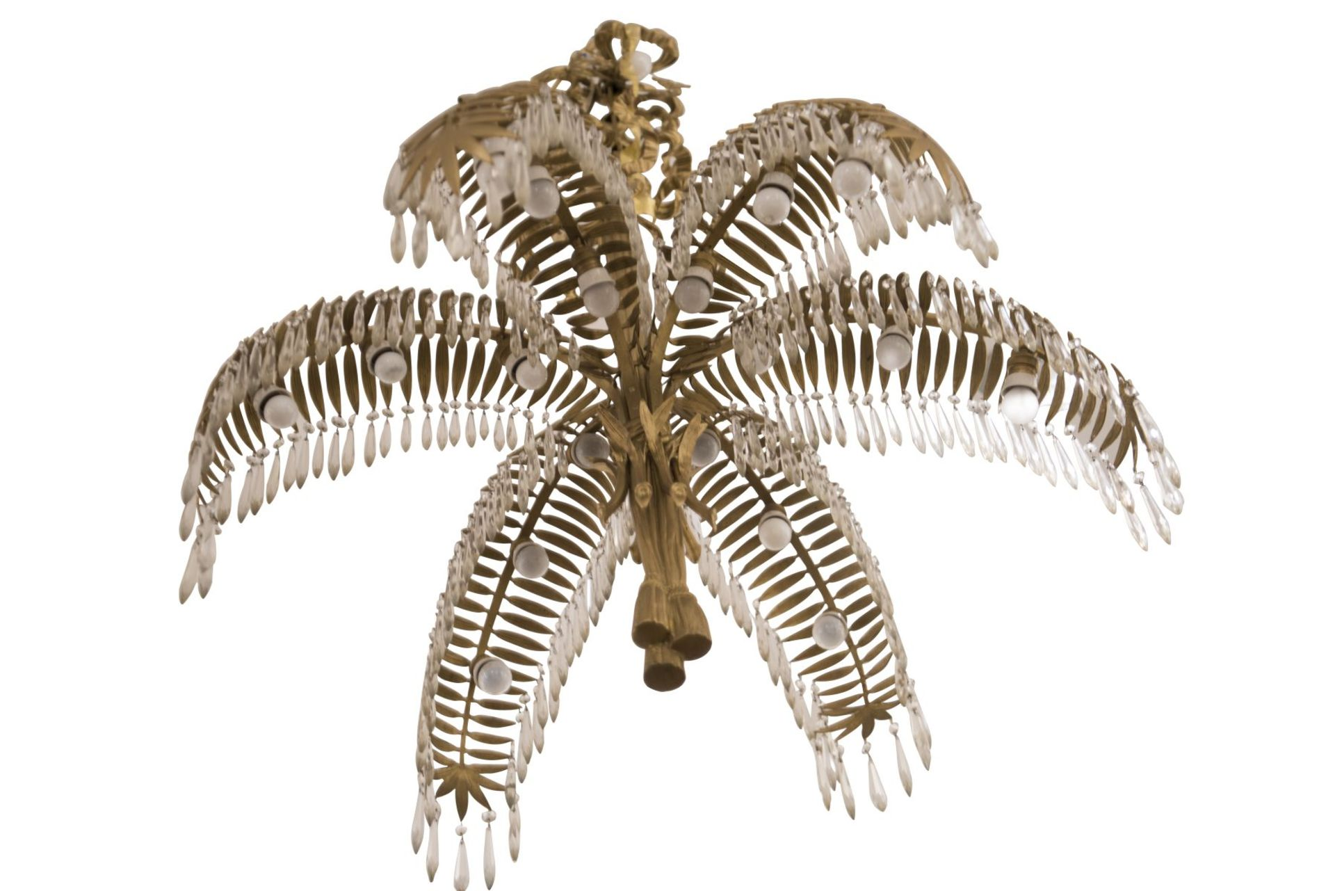 Salon Chandelier, Palm Chandelier by Hoffman for Bakalowits & Söhne, 1970s - Image 5 of 6