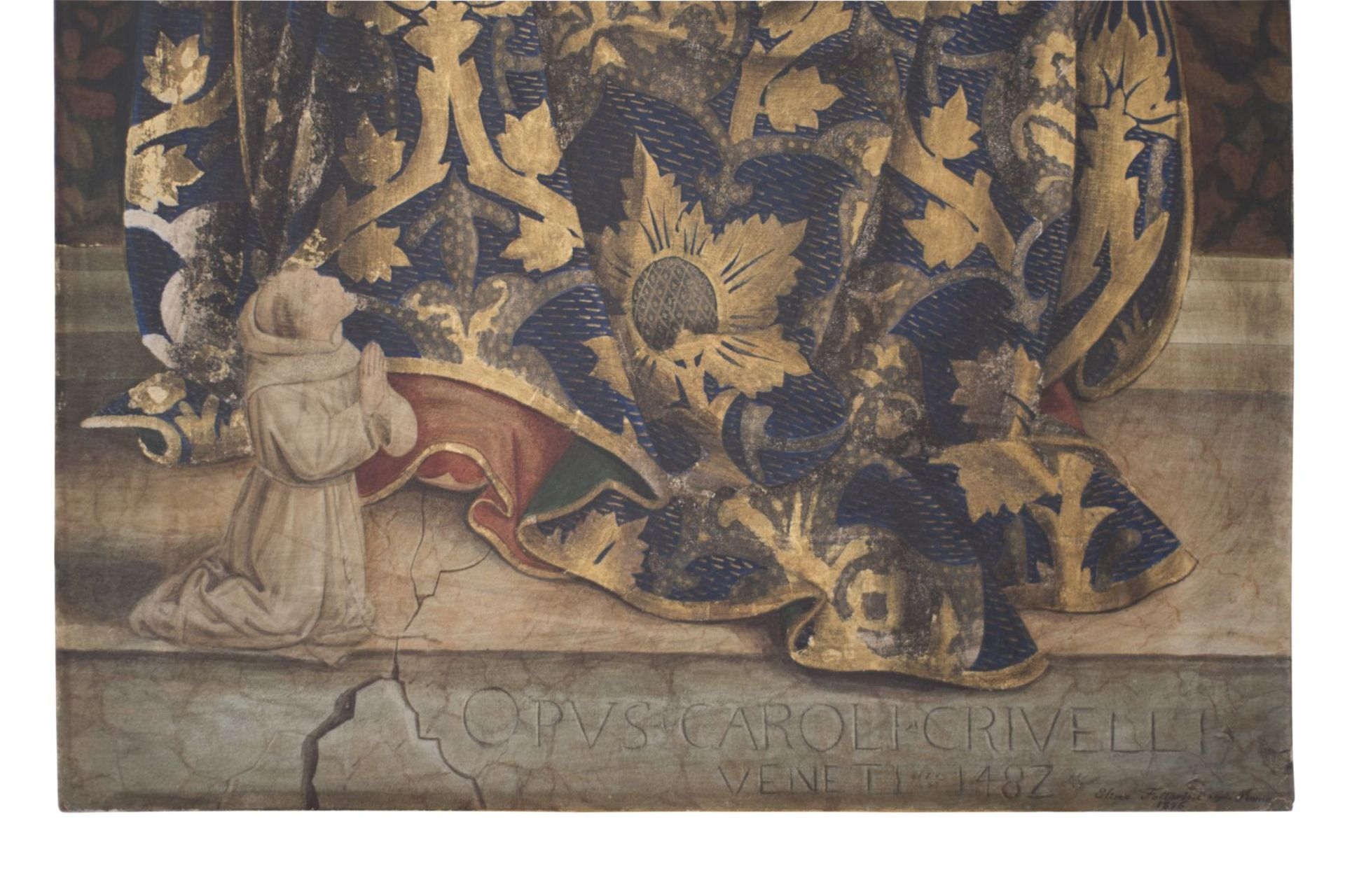 "After an original Opvus Caroli Crivelli Venet 1487 ""Madonna with Child"" - Image 7 of 8"