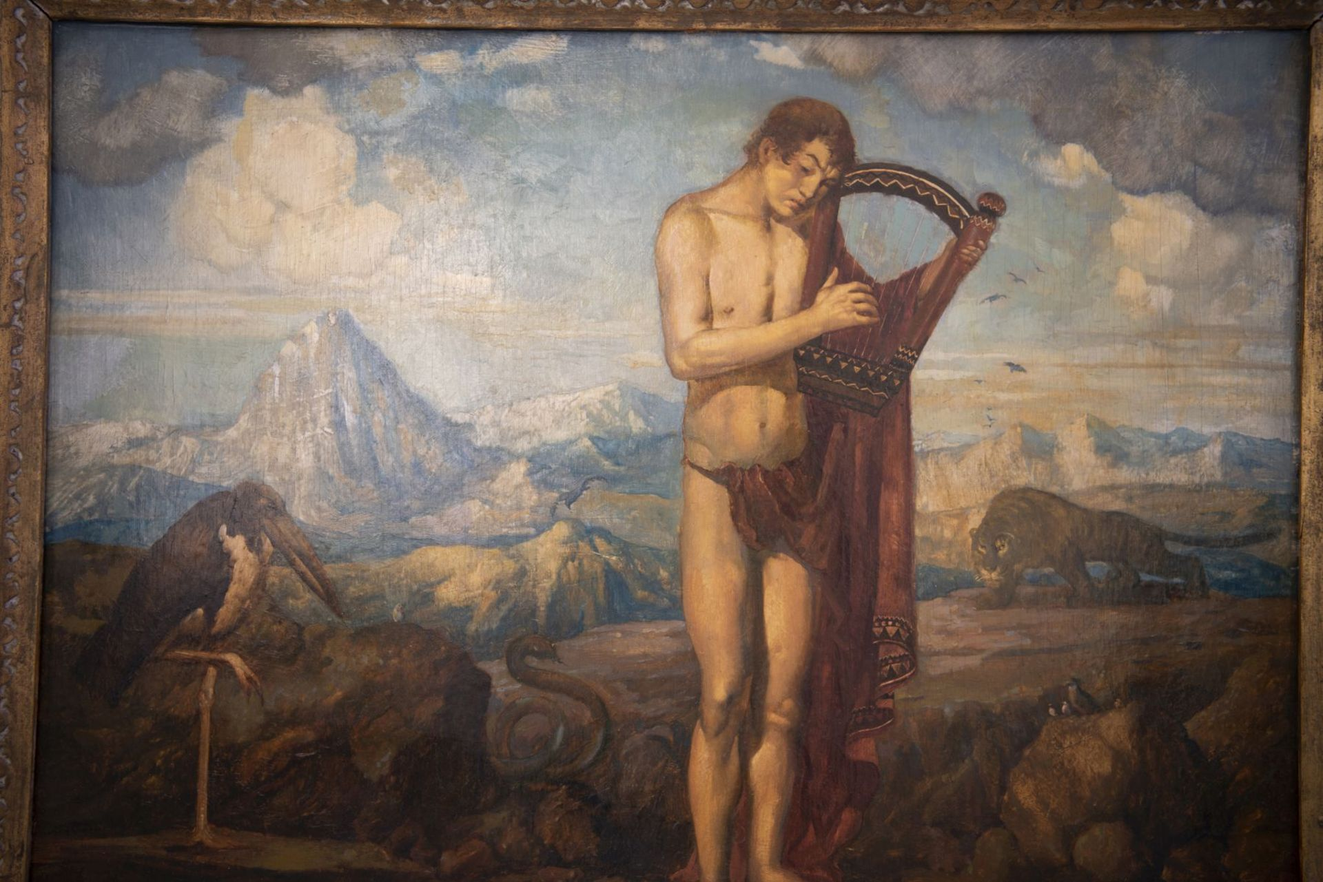 """Franz von Stuck circle Munich around 1900 """" Young man with the lyre"""" - Bild 2 aus 7"""