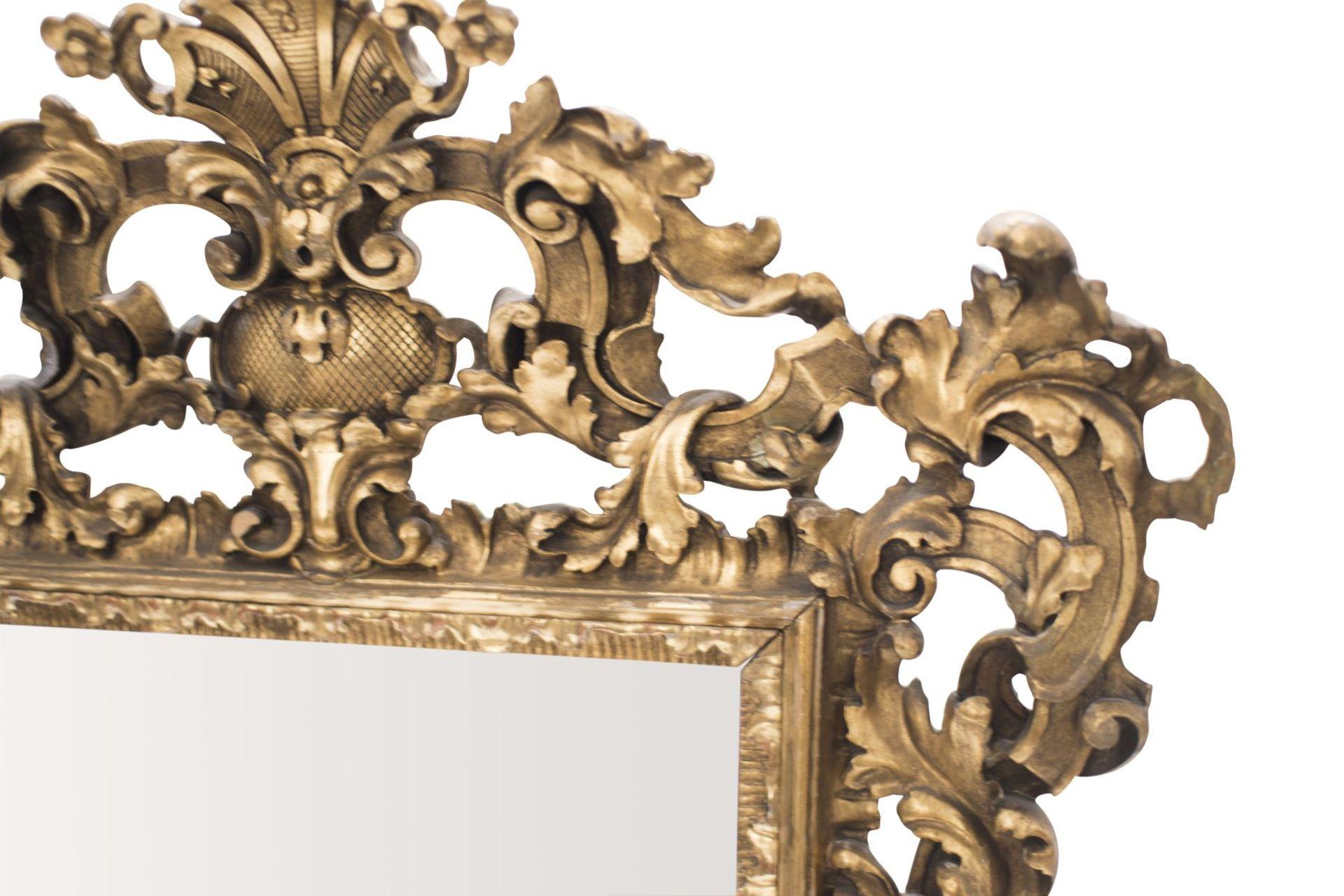 Baroque style salon mirror, 19th century - Image 4 of 6