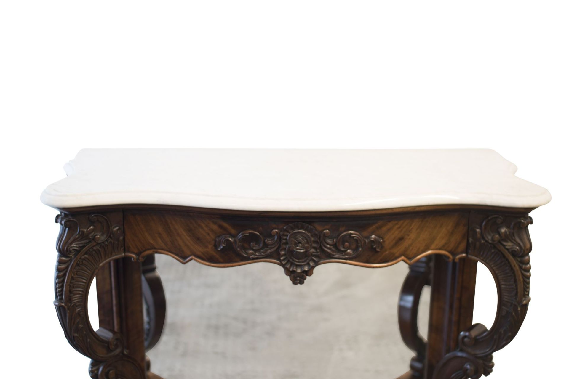 Baroque Buffet with Mirror and Marble Top - Bild 5 aus 6