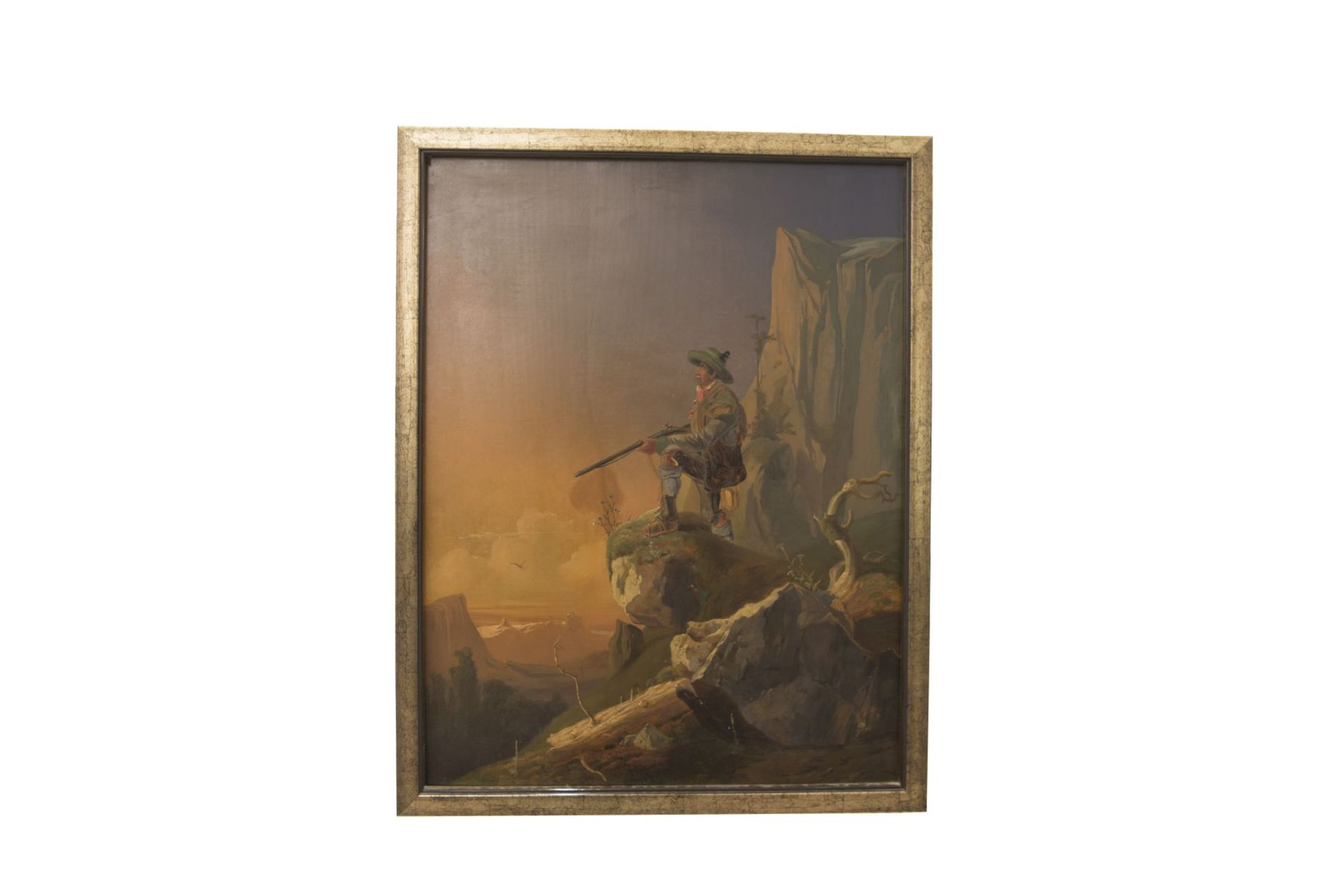 """Painter from the circle Friedrich Gauermann """"Hunter in the high mountains"""" - Image 9 of 9"""