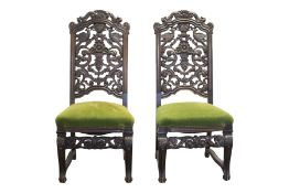 Pair of salon chairs, Belle Epoch style