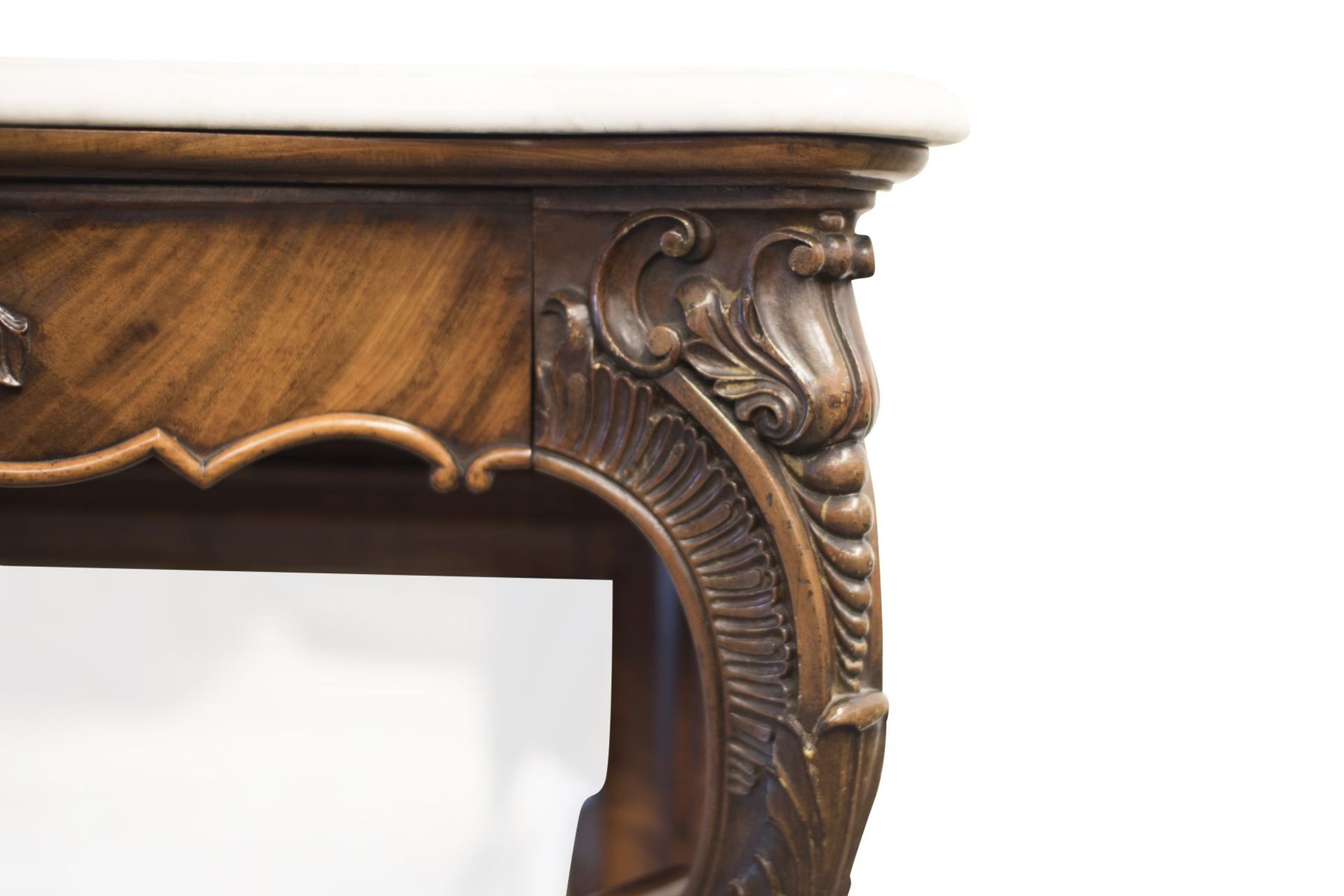 Baroque Buffet with Mirror and Marble Top - Bild 3 aus 6