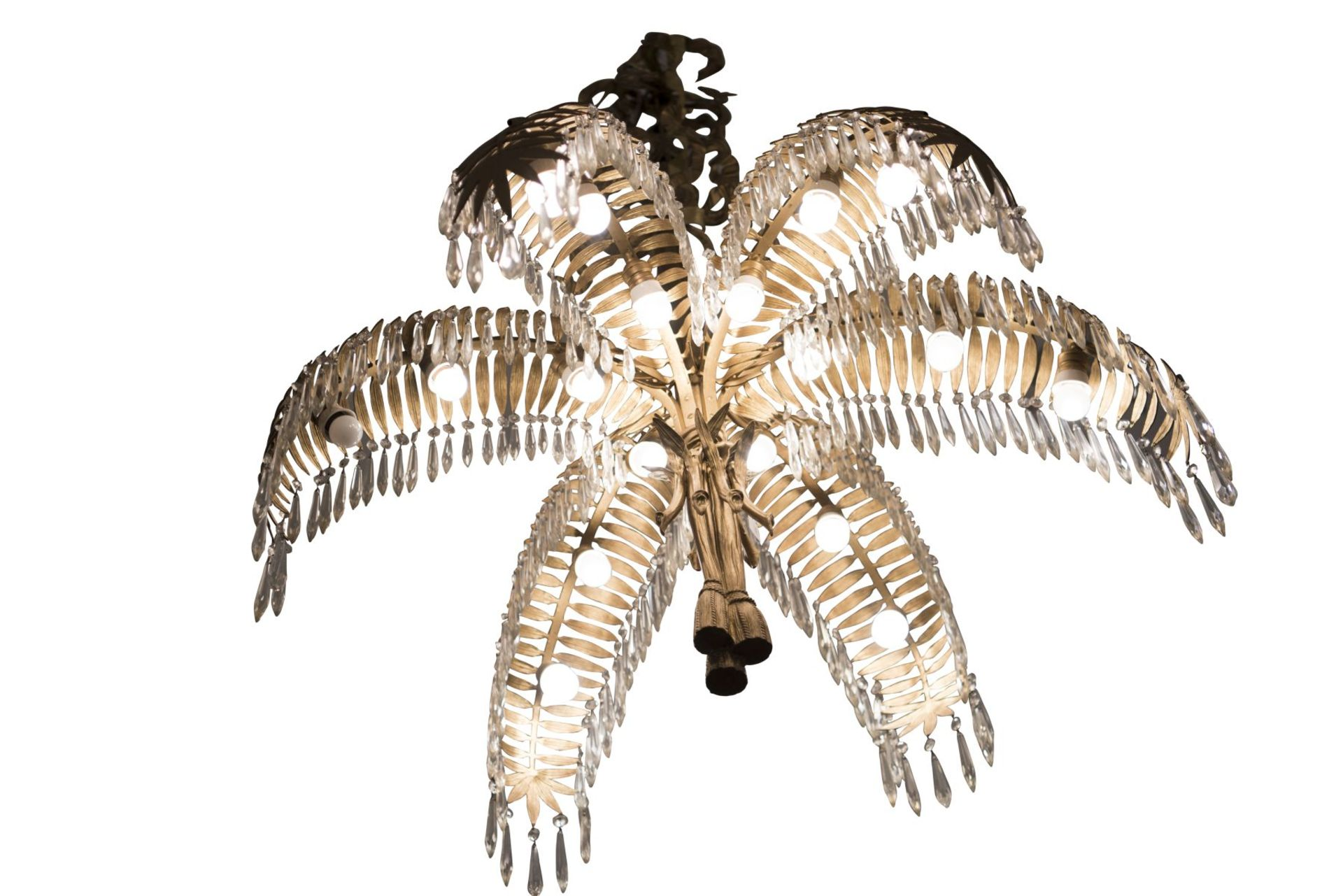 Salon Chandelier, Palm Chandelier by Hoffman for Bakalowits & Söhne, 1970s - Image 4 of 6