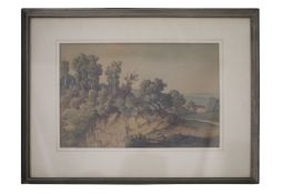 "Jost Anton Muheim (1837-1919) "" Craggy Landscape """