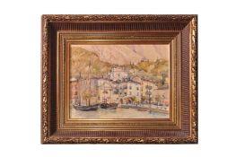 "Adolf Wiesler (1878-1958) ""View of Malcesine on Lake Garda"""