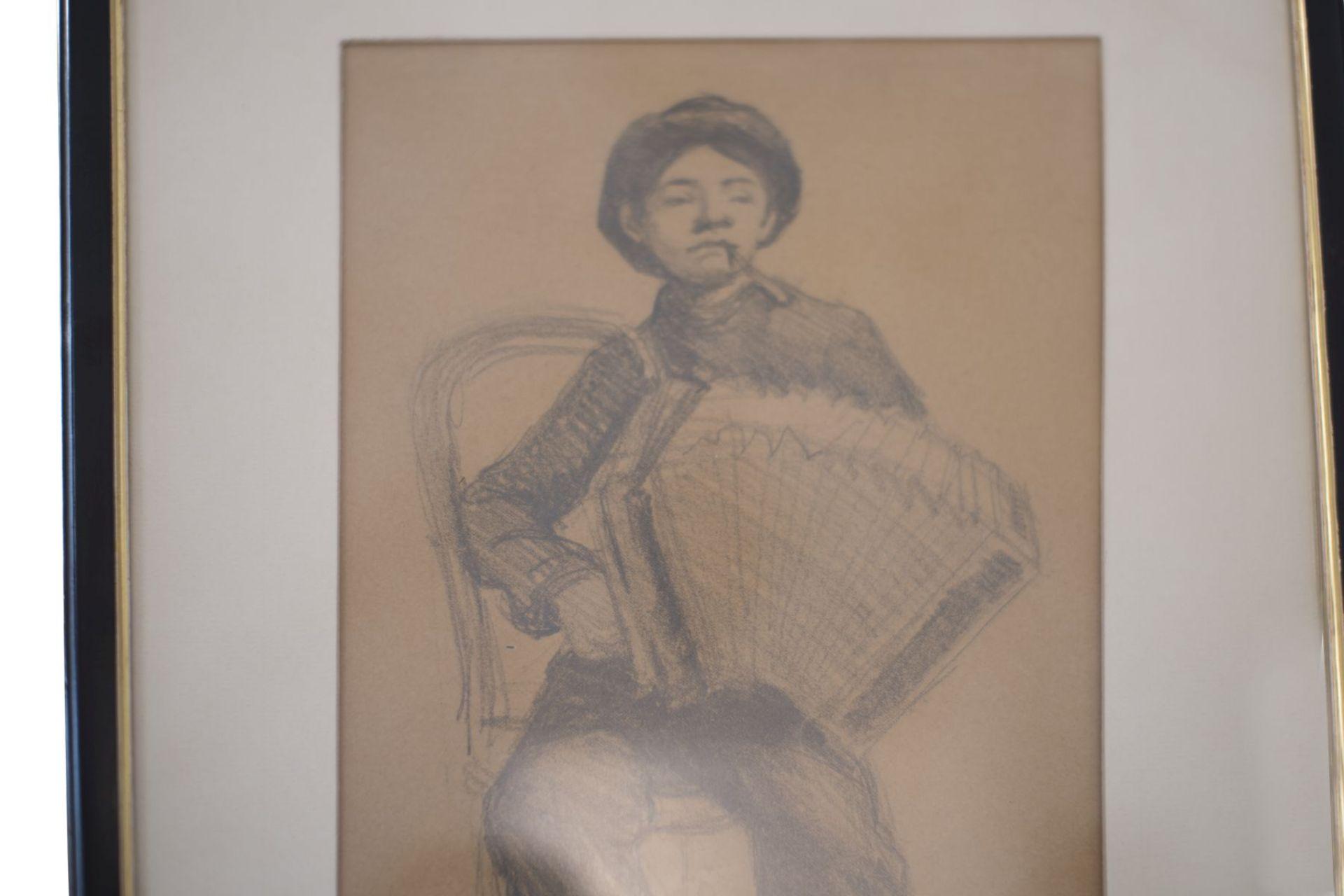 "B.M. Dibbleo Rome 1910 ""Harmonica player"" - Image 2 of 4"