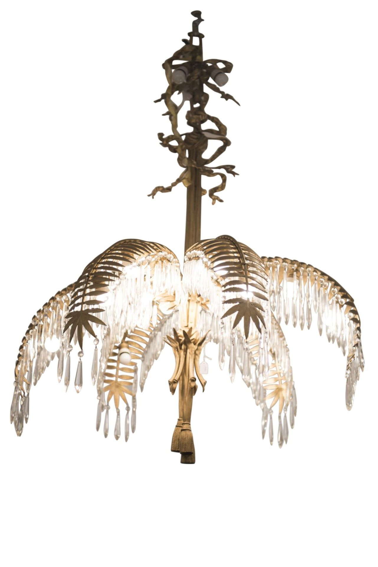 Salon Chandelier, Palm Chandelier by Hoffman for Bakalowits & Söhne, 1970s