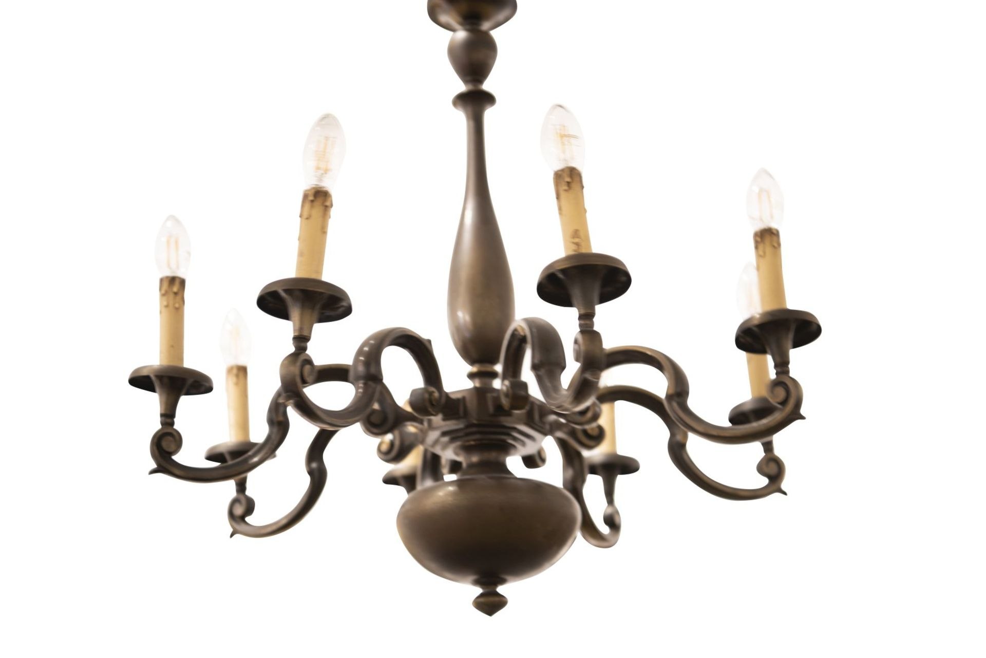 Salon chandelier and two wall appliques - Image 4 of 10