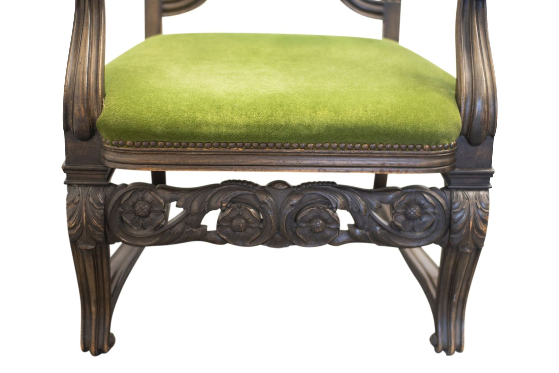 Armchair with carved backrest - Image 4 of 5