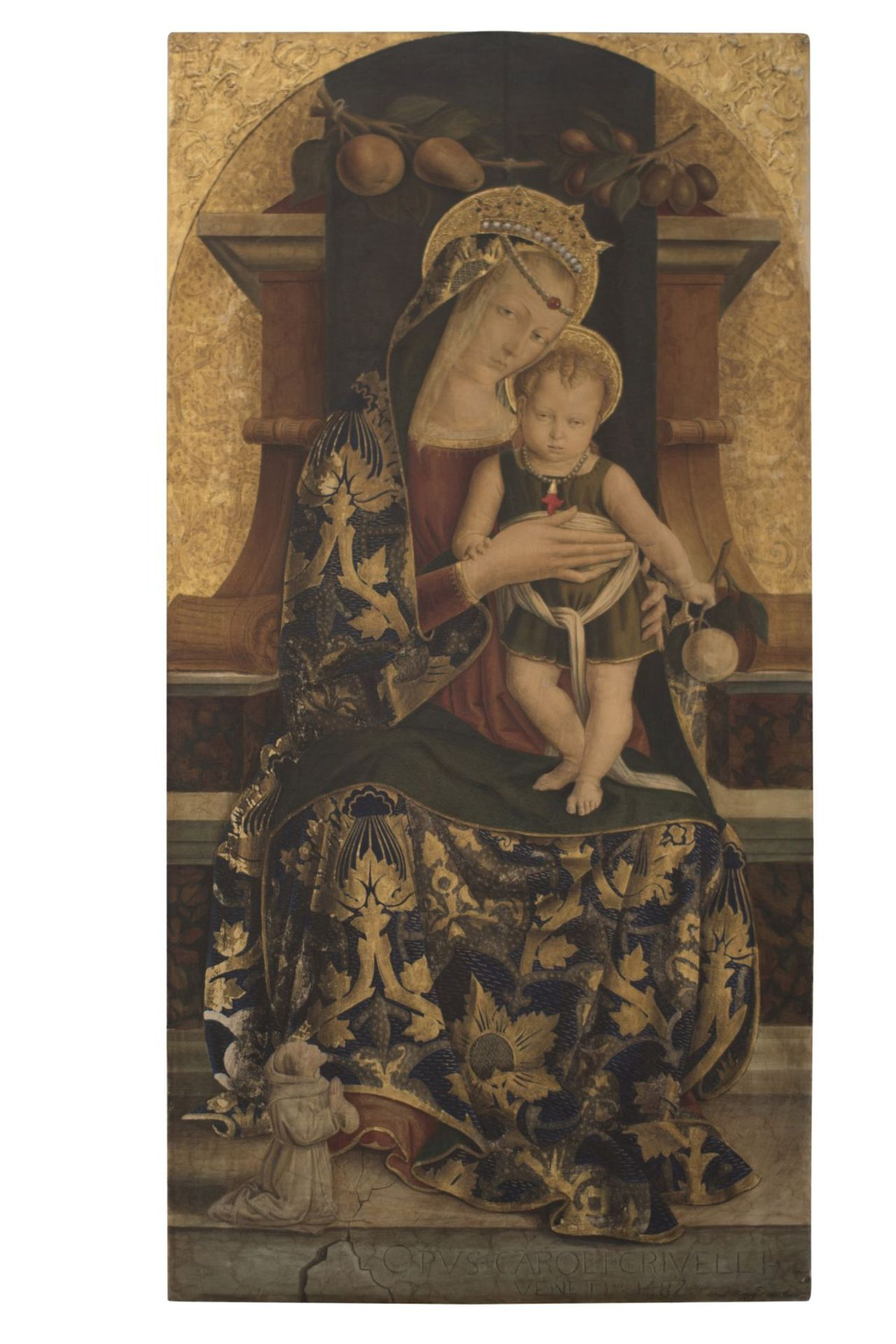 "After an original Opvus Caroli Crivelli Venet 1487 ""Madonna with Child"""