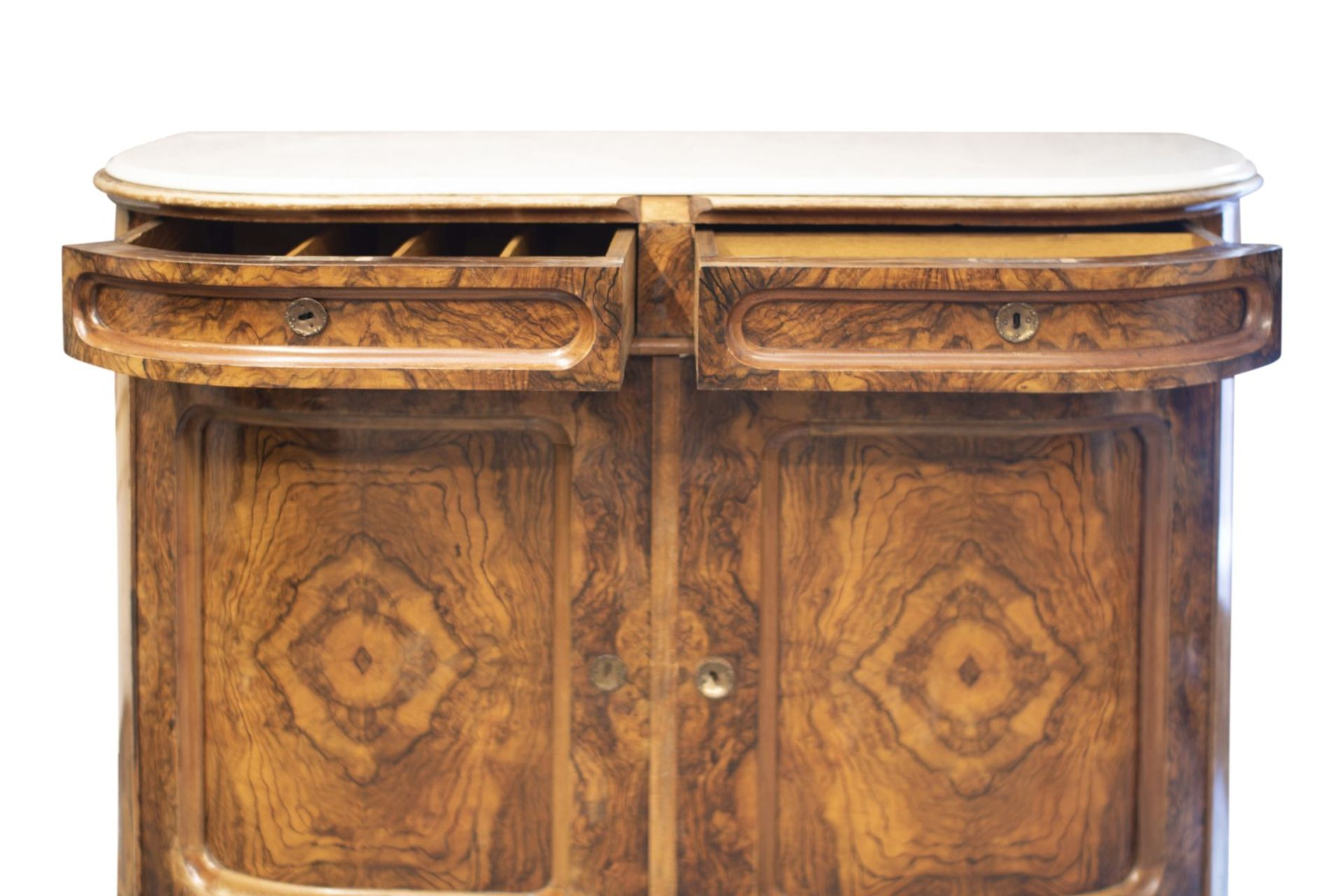 Salon chest of drawers with profiled marble top - Image 2 of 6