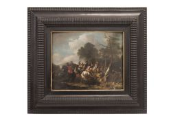 """Painter of the 19th Century """"Battle Scene with Horses"""""""