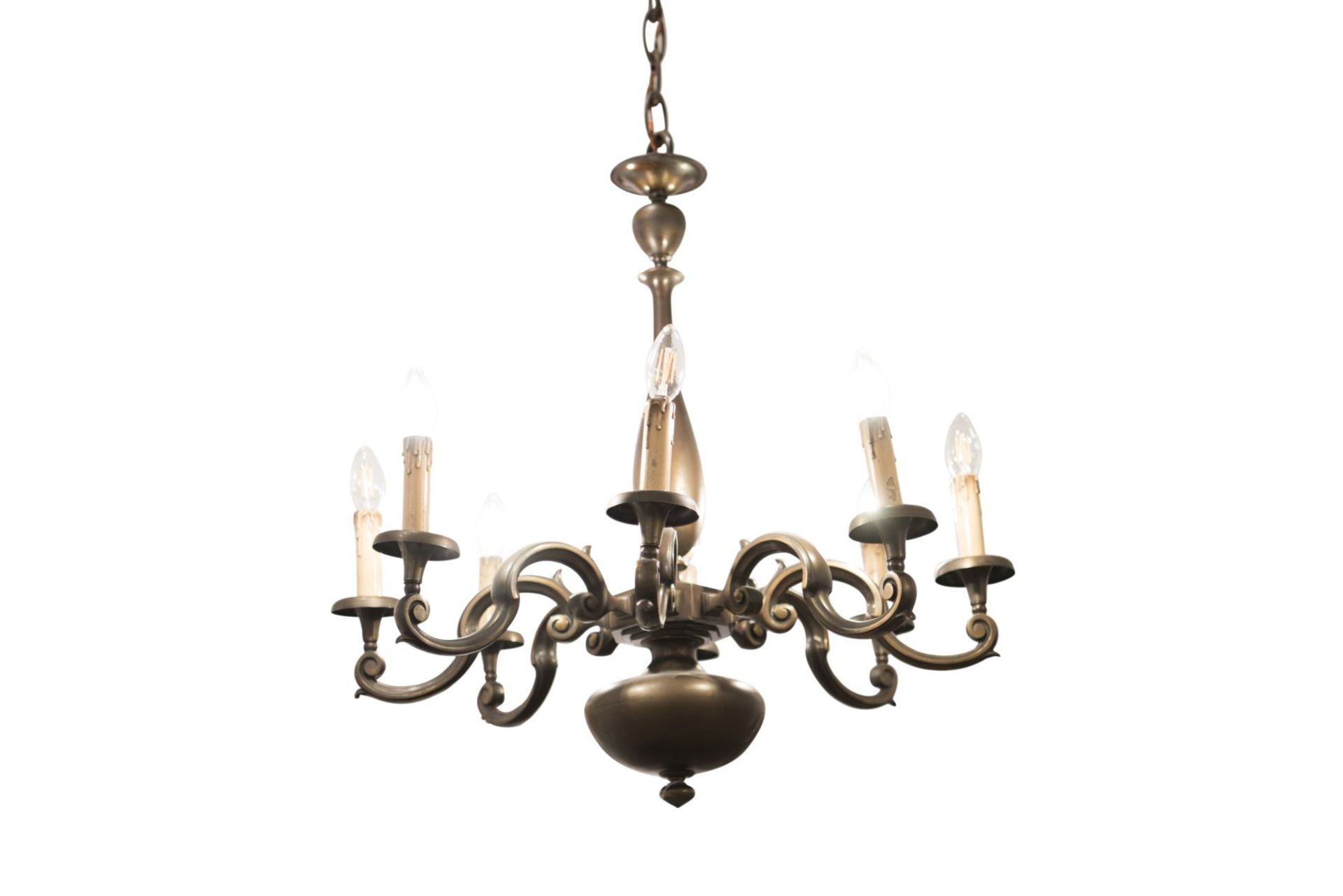 Salon chandelier and two wall appliques - Image 2 of 10