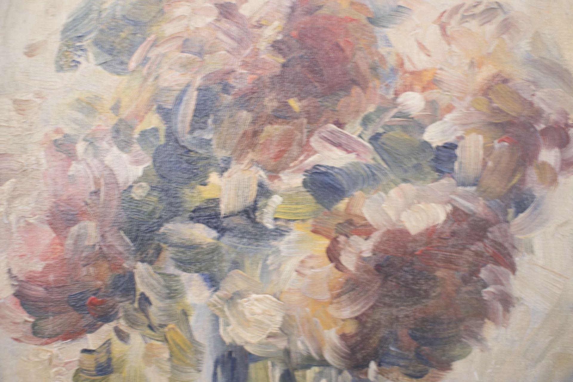 "Painter around 1920 ""Flowers in vase"" - Image 2 of 5"