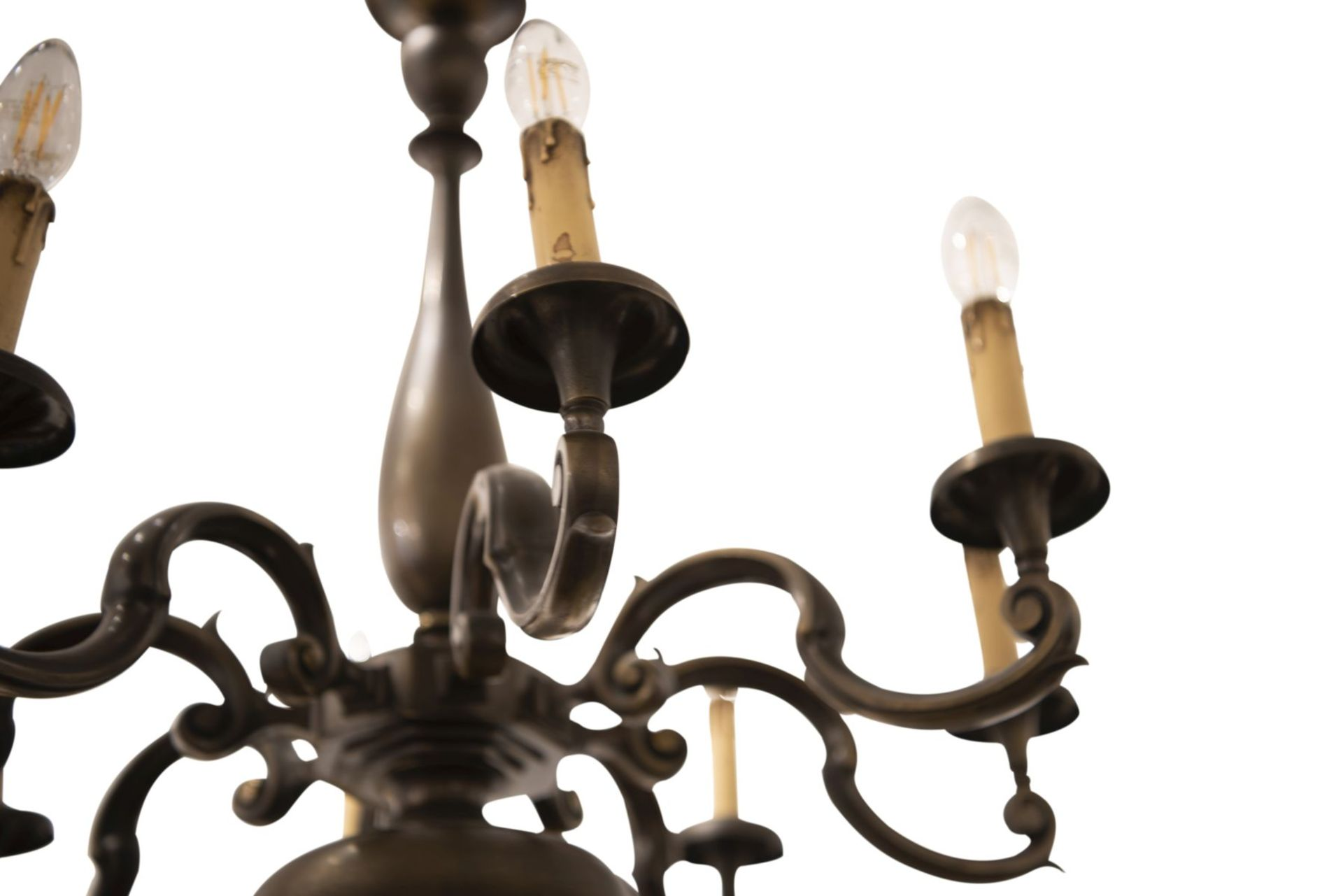 Salon chandelier and two wall appliques - Image 5 of 10