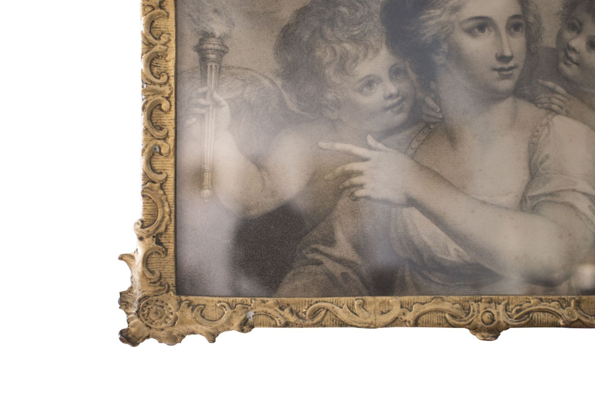 "Artist of the 18th century ""Lady with two lovers"" - Image 4 of 5"