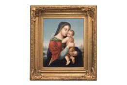"Italian Painter ""Madonna with Child"