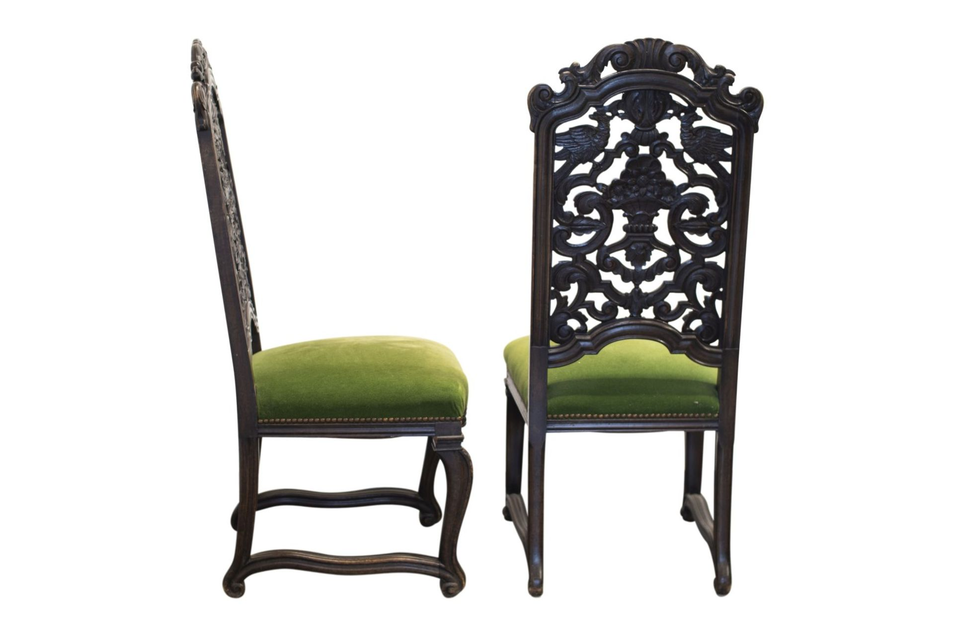 Pair of salon chairs, Belle Epoch style - Image 3 of 7