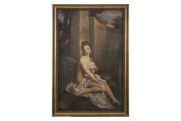 "After Jean Baptiste Sauterre, France around 1800 ""Susanna in the bath"""